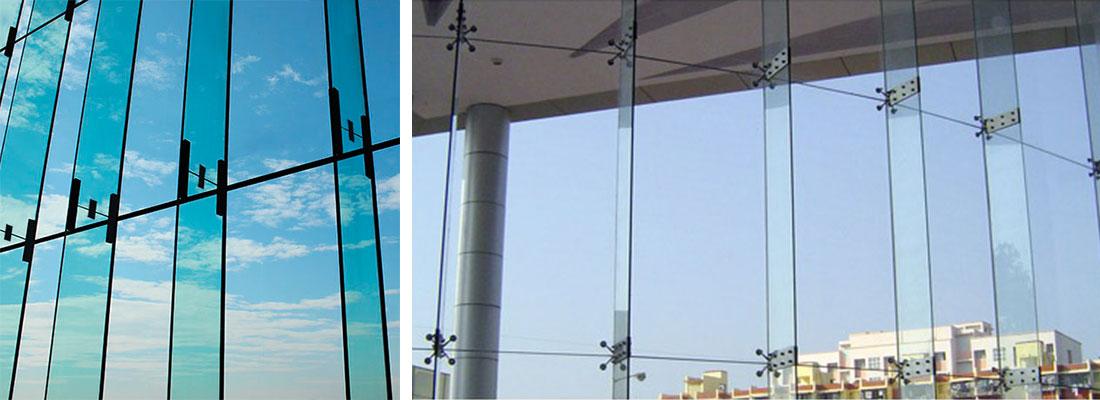 نمای شیشه ای اسپایدر   نمای مدرن آراد